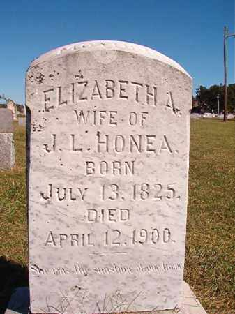 HONEA, ELIZABETH A - Lonoke County, Arkansas   ELIZABETH A HONEA - Arkansas Gravestone Photos