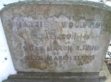 WOODARD JACKSON, MATTIE - Lonoke County, Arkansas | MATTIE WOODARD JACKSON - Arkansas Gravestone Photos