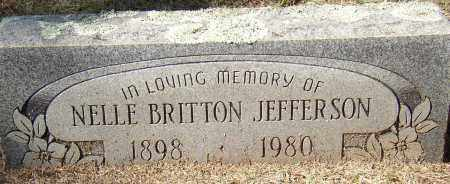 BRITTON JEFFERSON, NELLE - Lonoke County, Arkansas | NELLE BRITTON JEFFERSON - Arkansas Gravestone Photos