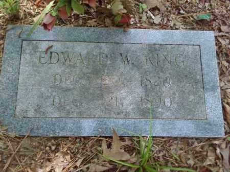 KING, EDWARD W. - Lonoke County, Arkansas   EDWARD W. KING - Arkansas Gravestone Photos