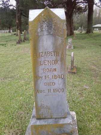 LENOX, ELIZABETH A. - Lonoke County, Arkansas   ELIZABETH A. LENOX - Arkansas Gravestone Photos