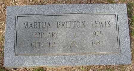 BRITTON LEWIS, MARTHA - Lonoke County, Arkansas | MARTHA BRITTON LEWIS - Arkansas Gravestone Photos