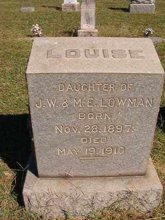 LOWMAN, LOUISE - Lonoke County, Arkansas   LOUISE LOWMAN - Arkansas Gravestone Photos