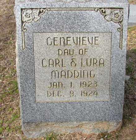 MADDING, GENEVIEVE - Lonoke County, Arkansas | GENEVIEVE MADDING - Arkansas Gravestone Photos