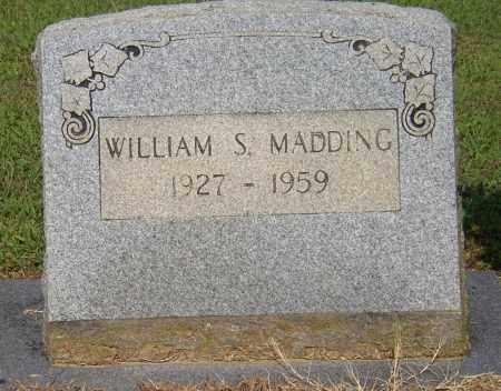 MADDING, WILLIAM S. - Lonoke County, Arkansas   WILLIAM S. MADDING - Arkansas Gravestone Photos
