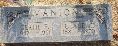 MANION, CLAUD G. - Lonoke County, Arkansas | CLAUD G. MANION - Arkansas Gravestone Photos