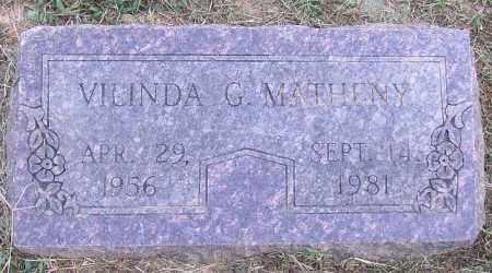 MATHENY, VILINDA G. - Lonoke County, Arkansas   VILINDA G. MATHENY - Arkansas Gravestone Photos
