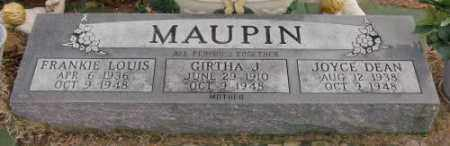 MAUPIN, GIRTHA J - Lonoke County, Arkansas | GIRTHA J MAUPIN - Arkansas Gravestone Photos