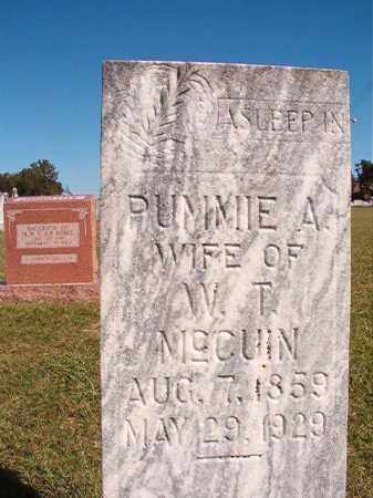 MCCUIN, PUMMIE - Lonoke County, Arkansas | PUMMIE MCCUIN - Arkansas Gravestone Photos