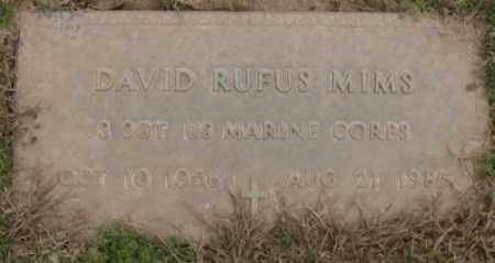 MIMS (VETERAN), DAVID RUFUS - Lonoke County, Arkansas | DAVID RUFUS MIMS (VETERAN) - Arkansas Gravestone Photos