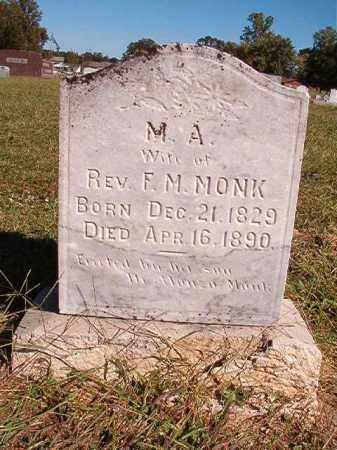 MONK, M A - Lonoke County, Arkansas | M A MONK - Arkansas Gravestone Photos