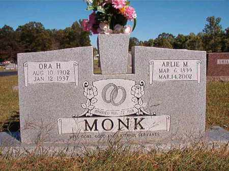 MONK, ARLIE M - Lonoke County, Arkansas | ARLIE M MONK - Arkansas Gravestone Photos