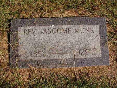 MONK, REV, BASCOME - Lonoke County, Arkansas | BASCOME MONK, REV - Arkansas Gravestone Photos
