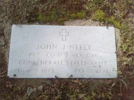 NEELY  (VETERAN CSA), JOHN J - Lonoke County, Arkansas | JOHN J NEELY  (VETERAN CSA) - Arkansas Gravestone Photos