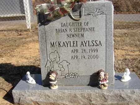 NEWNUM, MCKAYLEI AYLSSA - Lonoke County, Arkansas   MCKAYLEI AYLSSA NEWNUM - Arkansas Gravestone Photos