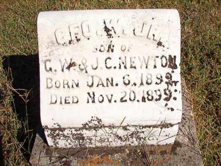 NEWTON, JR, GEO. W. - Lonoke County, Arkansas   GEO. W. NEWTON, JR - Arkansas Gravestone Photos