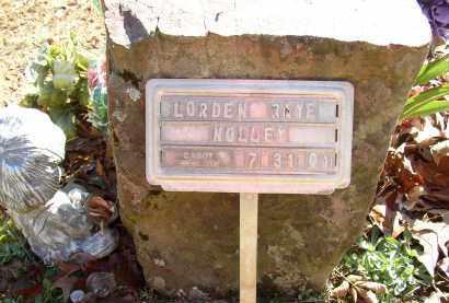 NOLLEY, LORDEN RAYE - Lonoke County, Arkansas   LORDEN RAYE NOLLEY - Arkansas Gravestone Photos