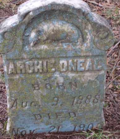 O'NEAL, ARCHIE - Lonoke County, Arkansas | ARCHIE O'NEAL - Arkansas Gravestone Photos