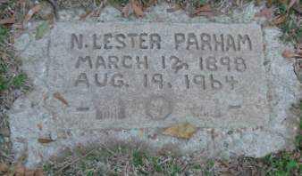 PARHAM, N   LESTER - Lonoke County, Arkansas | N   LESTER PARHAM - Arkansas Gravestone Photos