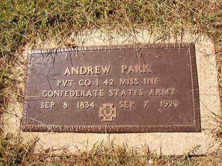 PARK (VETERAN CSA), ANDREW - Lonoke County, Arkansas   ANDREW PARK (VETERAN CSA) - Arkansas Gravestone Photos