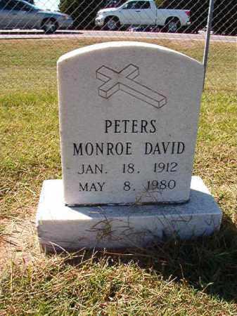 PETERS, MONROE DAVID - Lonoke County, Arkansas   MONROE DAVID PETERS - Arkansas Gravestone Photos