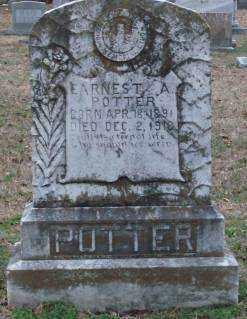 POTTER, EARNEST A - Lonoke County, Arkansas | EARNEST A POTTER - Arkansas Gravestone Photos