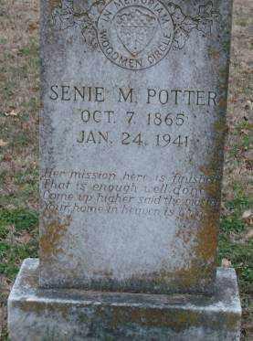 POTTER, SENIE M - Lonoke County, Arkansas   SENIE M POTTER - Arkansas Gravestone Photos
