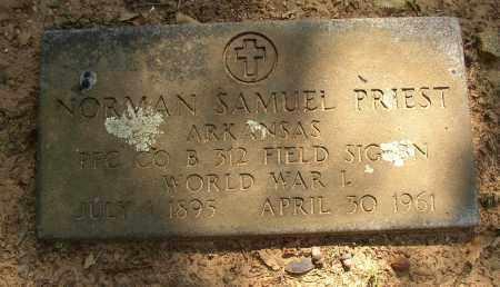 PRIEST (VETERAN WWI), NORMAN SAMUEL - Lonoke County, Arkansas   NORMAN SAMUEL PRIEST (VETERAN WWI) - Arkansas Gravestone Photos