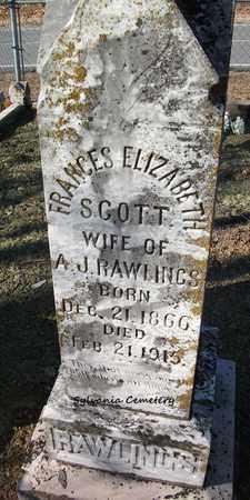 RAWLINGS, FRANCES ELIZABETH - Lonoke County, Arkansas | FRANCES ELIZABETH RAWLINGS - Arkansas Gravestone Photos