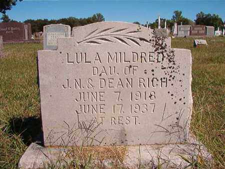 RICH, LULA MILDRED - Lonoke County, Arkansas | LULA MILDRED RICH - Arkansas Gravestone Photos
