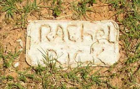 RICK, RACHEL - Lonoke County, Arkansas | RACHEL RICK - Arkansas Gravestone Photos