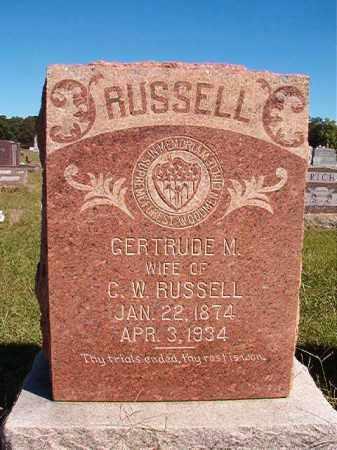 RUSSELL, GERTRUDE M - Lonoke County, Arkansas   GERTRUDE M RUSSELL - Arkansas Gravestone Photos