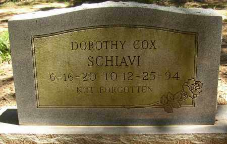 COX SCHIAVI, DOROTHY - Lonoke County, Arkansas | DOROTHY COX SCHIAVI - Arkansas Gravestone Photos