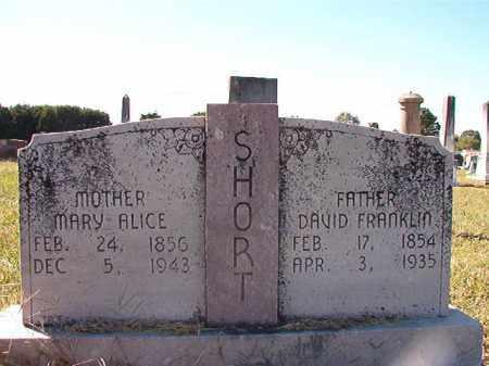 SHORT, DAVID FRANKLIN - Lonoke County, Arkansas | DAVID FRANKLIN SHORT - Arkansas Gravestone Photos