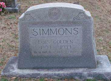 SIMMONS, LOIS GOLDEN - Lonoke County, Arkansas | LOIS GOLDEN SIMMONS - Arkansas Gravestone Photos