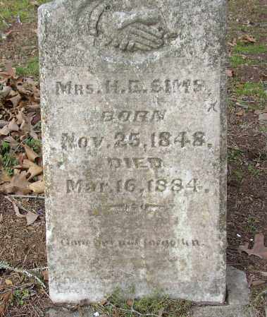 SIMS, MRS. H. E. - Lonoke County, Arkansas | MRS. H. E. SIMS - Arkansas Gravestone Photos