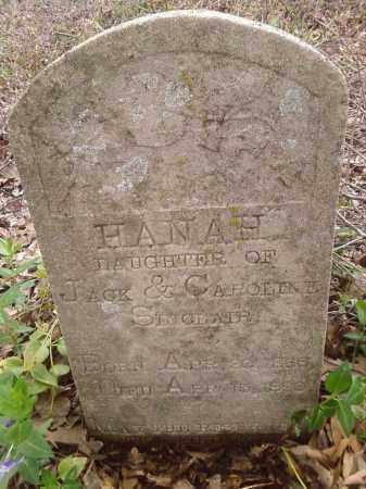 SINCLAIR, HANAH - Lonoke County, Arkansas   HANAH SINCLAIR - Arkansas Gravestone Photos