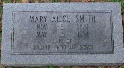 SMITH, MARY ALICE - Lonoke County, Arkansas   MARY ALICE SMITH - Arkansas Gravestone Photos