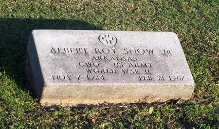 SNOW, JR (VETERAN WWII), ALBERT ROY - Lonoke County, Arkansas | ALBERT ROY SNOW, JR (VETERAN WWII) - Arkansas Gravestone Photos