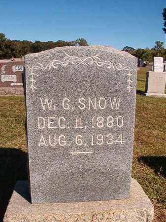 SNOW, W G - Lonoke County, Arkansas   W G SNOW - Arkansas Gravestone Photos