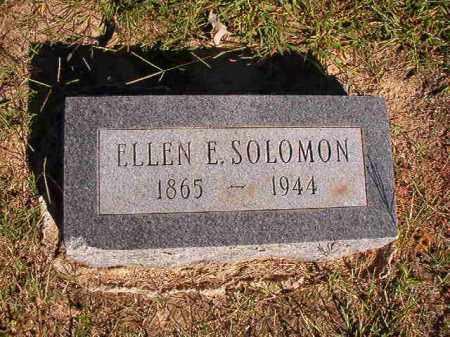 SOLOMON, ELLEN E - Lonoke County, Arkansas   ELLEN E SOLOMON - Arkansas Gravestone Photos
