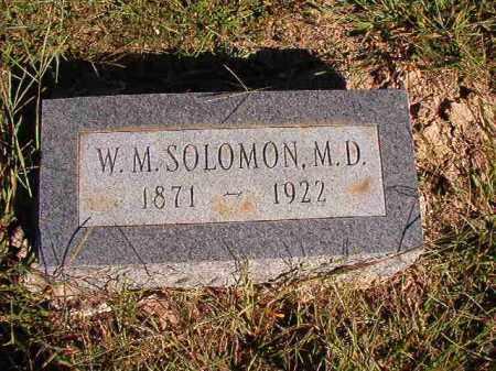 SOLOMON, MD, W M - Lonoke County, Arkansas   W M SOLOMON, MD - Arkansas Gravestone Photos