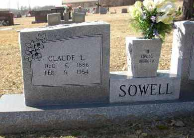 SOWELL (VETERAN WWI), CLAUDE L. - Lonoke County, Arkansas | CLAUDE L. SOWELL (VETERAN WWI) - Arkansas Gravestone Photos