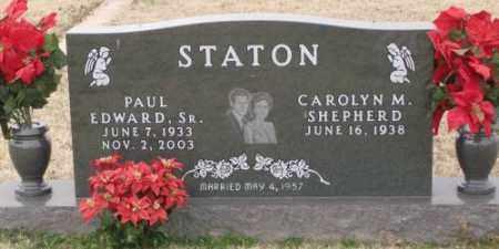 STATON, SR., PAUL EDWARD - Lonoke County, Arkansas   PAUL EDWARD STATON, SR. - Arkansas Gravestone Photos