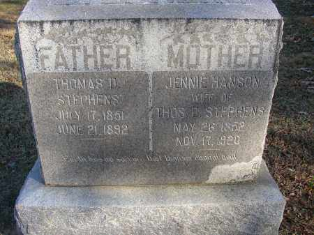 HANSON STEPHENS, JENNIE - Lonoke County, Arkansas | JENNIE HANSON STEPHENS - Arkansas Gravestone Photos