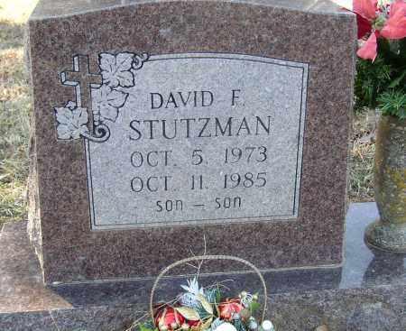 STUTZMAN, DAVID F. - Lonoke County, Arkansas | DAVID F. STUTZMAN - Arkansas Gravestone Photos