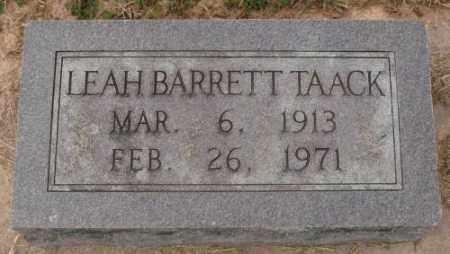 BARRETT TAACK, LEAH - Lonoke County, Arkansas | LEAH BARRETT TAACK - Arkansas Gravestone Photos