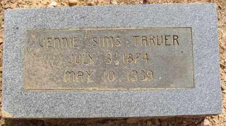 SIMS TARVER, JENNIE - Lonoke County, Arkansas | JENNIE SIMS TARVER - Arkansas Gravestone Photos