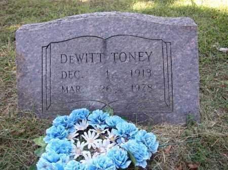 TONEY, DEWITT - Lonoke County, Arkansas | DEWITT TONEY - Arkansas Gravestone Photos