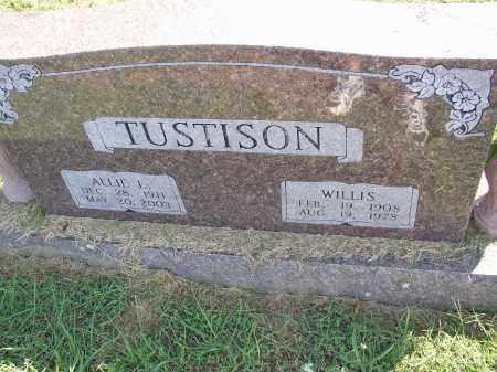 TUSTISON, ALLIE L. - Lonoke County, Arkansas | ALLIE L. TUSTISON - Arkansas Gravestone Photos